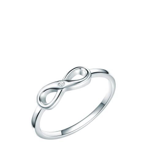 Tess Diamonds Silver Diamond Infinity Ring