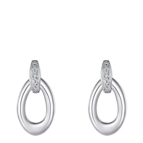 Tess Diamonds Silver Diamond Hoop Earrings