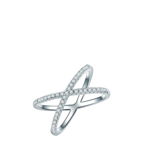 Carat 1934 Silver Crystal Crossover Ring