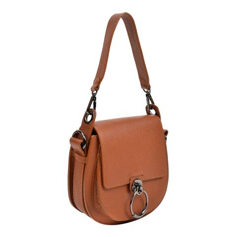 Anna Luchini Cognac Leather Shoulder Bag