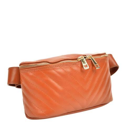 Anna Luchini Cognac Leather Belt Bag