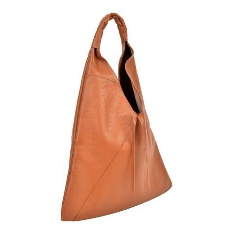 Anna Luchini Cognac Leather Tote Bag