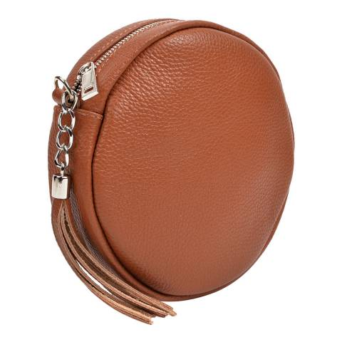 Anna Luchini Cognac Leather Crossbody Bag