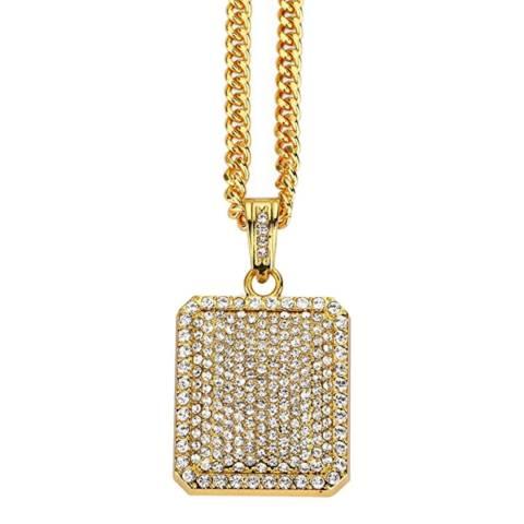 Stephen Oliver 18K Gold CZ Tag Necklace
