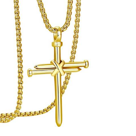 Stephen Oliver Gold Cross Pendant Necklace