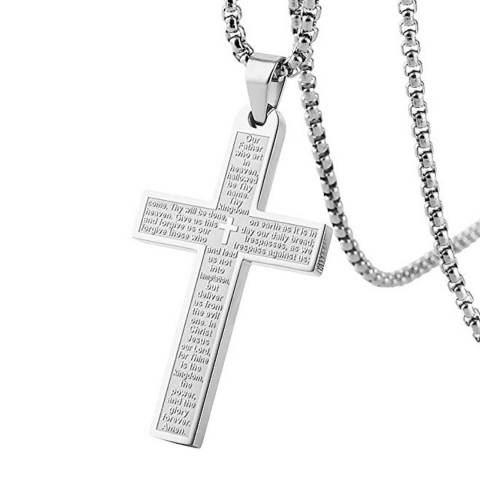 Stephen Oliver Silver Cross Necklace