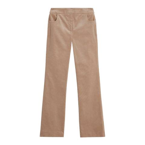Brora Sand Jumbo Cord Wide Leg Trousers