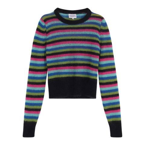 Brora Rainbow Mohair Stripy Jumper