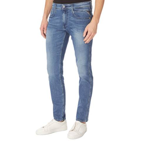 Replay Mid Blue Anbass Slim Stretch Jeans