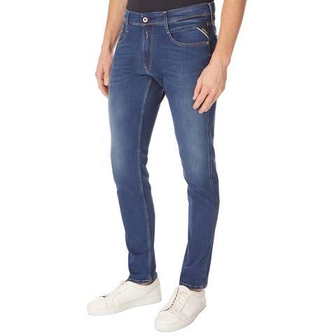 Replay Blue Denim Anbass Slim Stretch Jeans