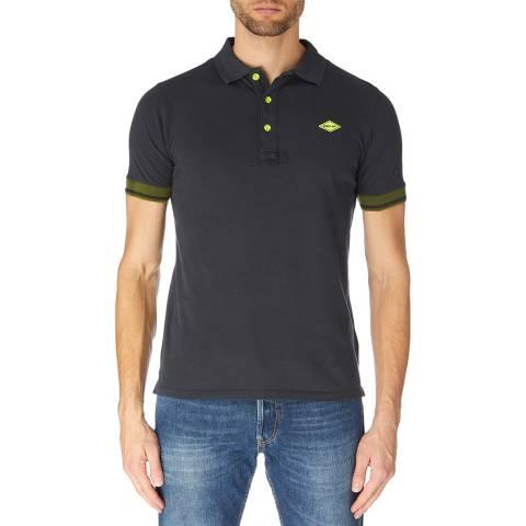 Replay Blue/Black Contrast Polo Shirt