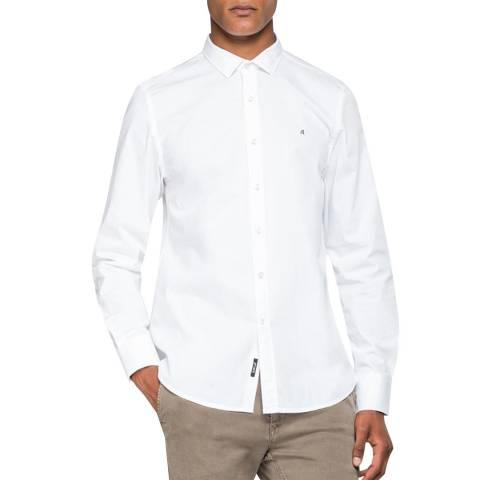 Replay White Poplin Stretch Shirt