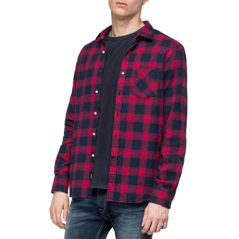 Replay Blue/Red Check Shirt
