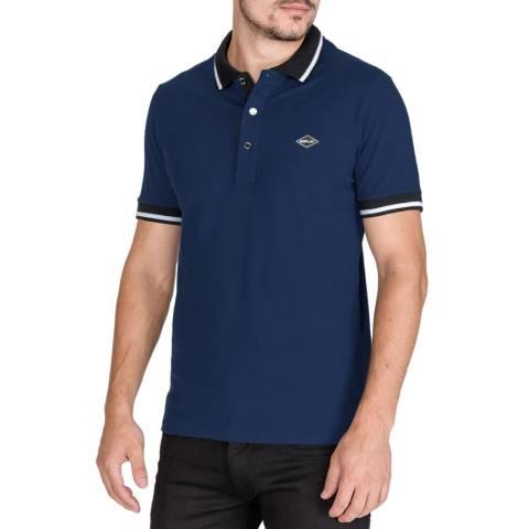 Replay Blue Trim Polo Shirt