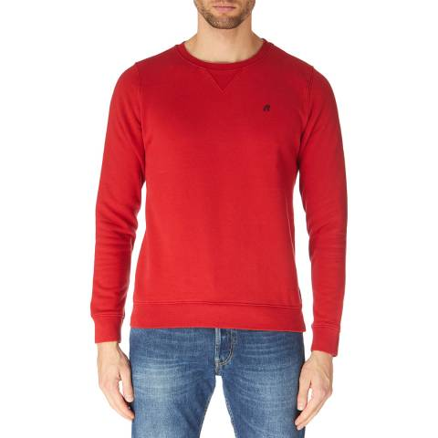 Replay Red Embroidered Logo Sweatshirt