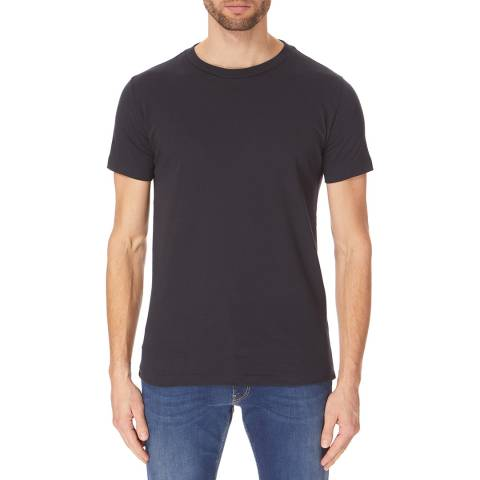Replay Dark Blue 2 Pack Basic Letter T-Shirts