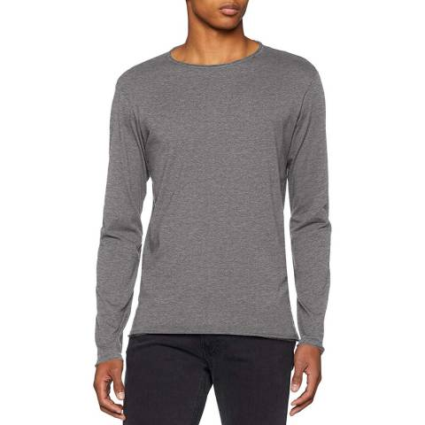 Replay Grey Raw Long Sleeved T-Shirt