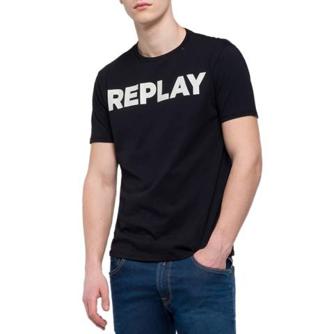 Replay Black Logo T-Shirt