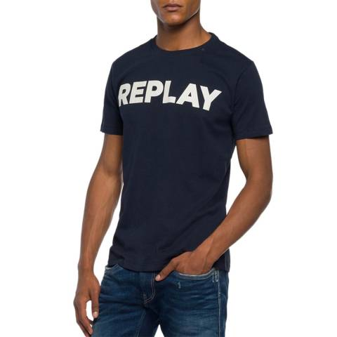 Replay Dark Blue Logo T-Shirt
