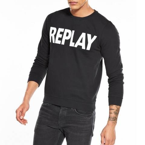 Replay Black Logo Sweatshirt