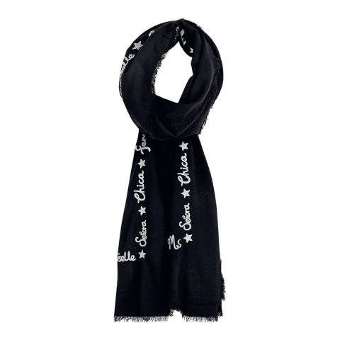 hush Black/Grey Lea Scarf