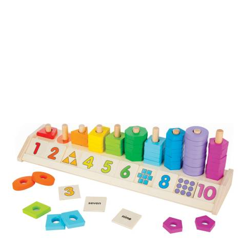 Melissa and Doug Counting Shape Stacker