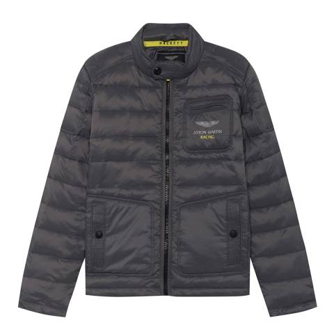 Hackett London Grey AMR Moto Jacket