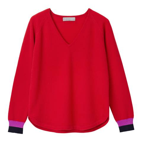 Cove Cashmere Red Polly Cashmere Jumper