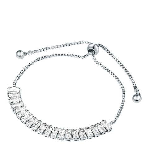 Runway Silver Box Bracelet with Swarovski Crystals