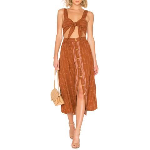 Free People Brown Caldasi Midi Dress