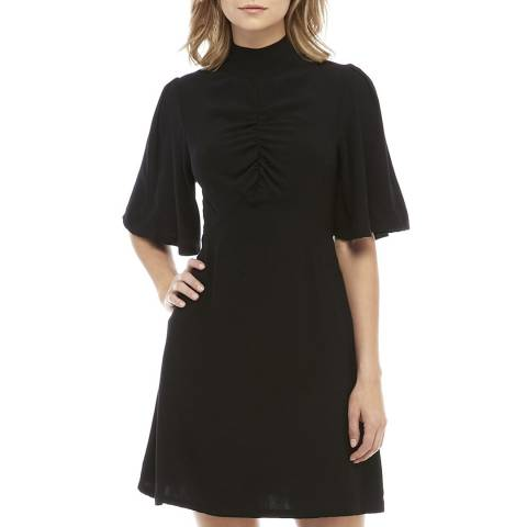 Free People Black Be My Baby Solid Dress
