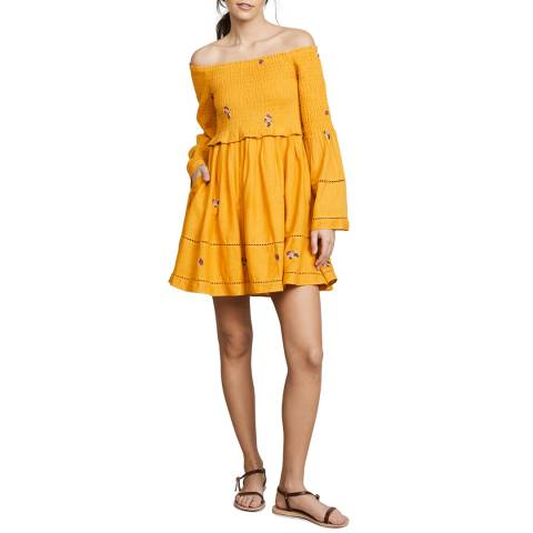 Free People Yellow Counting Daisies Dress