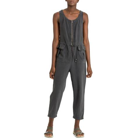 Free People Black Lovely Desert Jumpsuit