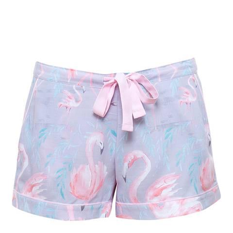 Cyberjammies Zara Woven Flamingo Print Short