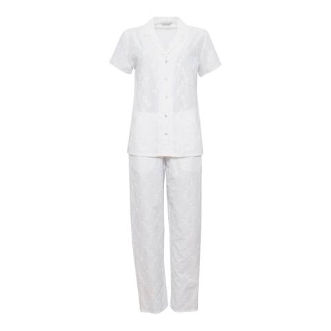 Cyberjammies Pearl Woven Short Sleeve Embroidered Pyjama Set
