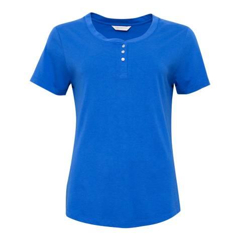 Cyberjammies Mia Short Sleeve Royal Blue Knit Top