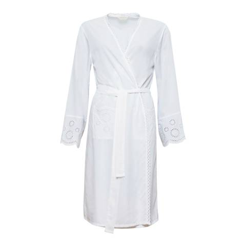 Cyberjammies Ella Woven Long Sleeve Embroidered Short Robe