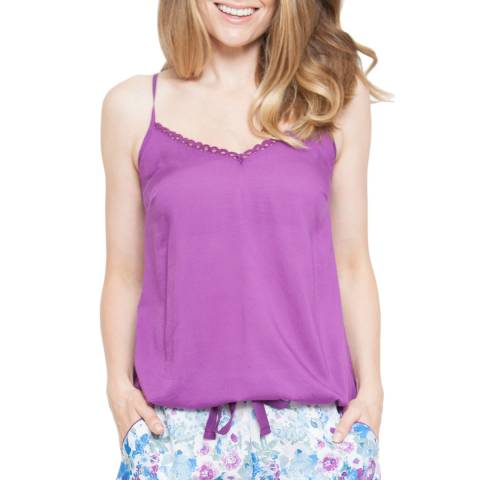 Cyberjammies Andrea Woven Mauve Solid Modal Cami