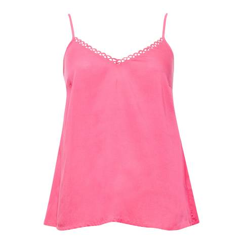 Cyberjammies Pippa Woven Pink Solid Modal Cami