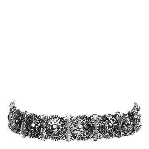 Amrita Singh Silver Patterned Choker Necklace