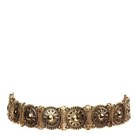 Amrita Singh Gold Patterned Choker Necklace