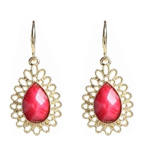 Amrita Singh Fuschia Drop Earrings