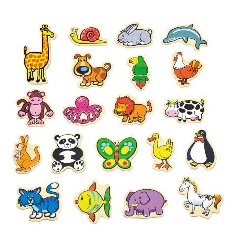 Viga Toys 20 Piece Magnetic Animals