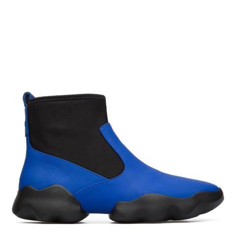 Camper Black & Electric Blue Dub Sneaker Bootie