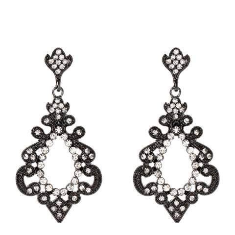 Amrita Singh Gunmetal Athena Chandelier Earrings