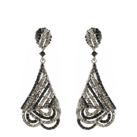 Amrita Singh Gunmetal/Jet Black Jean Georges Earrings