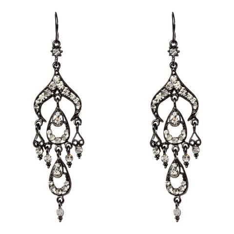 Amrita Singh Gunmetal Bella Crystal Earrings