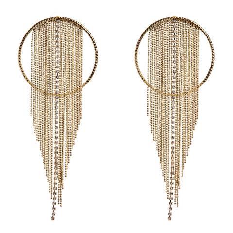 Amrita Singh Gold Global Fringe Earrings