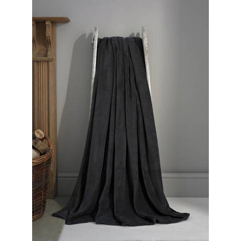 Deyongs Charcoal Snuggle Touch Throw 140x180cm