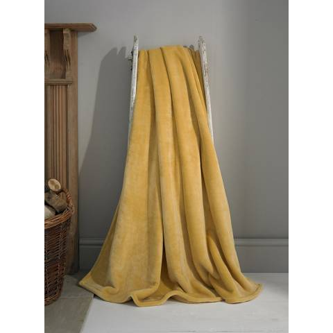 Deyongs Ochre Hudson Throw 140x180cm
